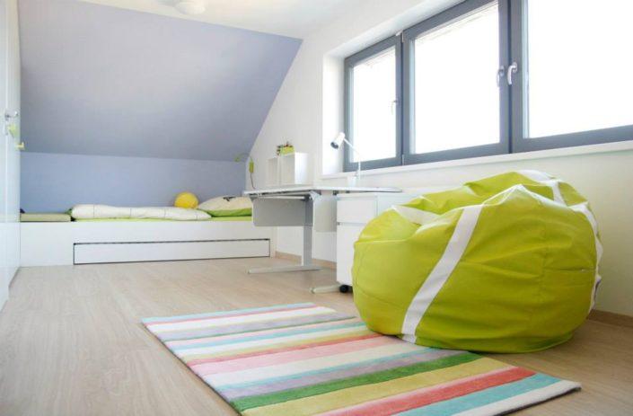 Modro-zelený pokoj pro kluky