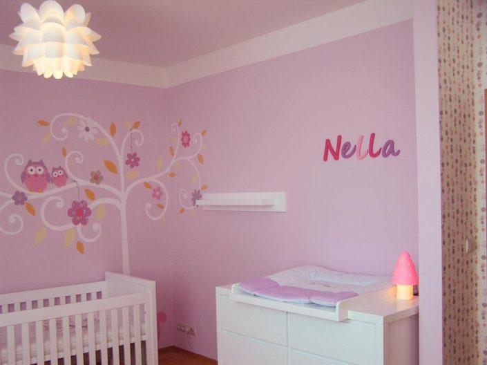 Růžový pokojíček pro miminko