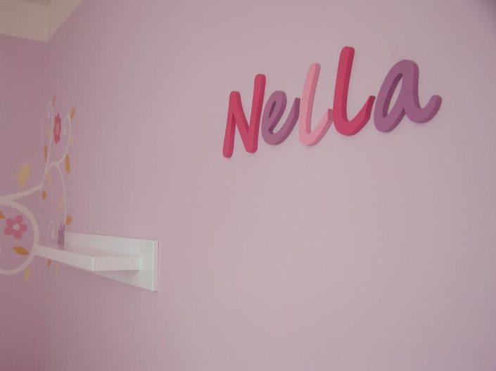 Jméno na stěnu v holčičích barvách