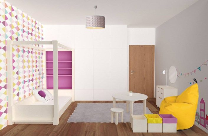 3D návrh dětského pokoje